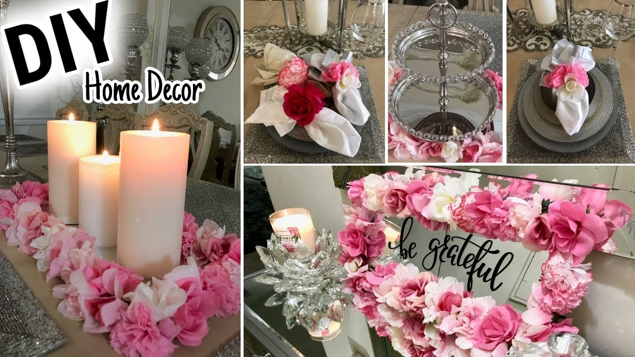 Home Decor Project Youtube: DIY Dollar Tree Spring Home Decor Ideas 2018