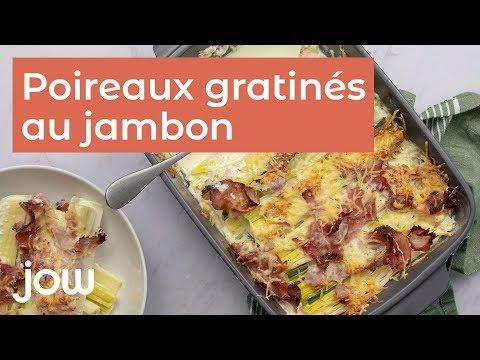 recette-de-poireaux-gratinés-au-jambon