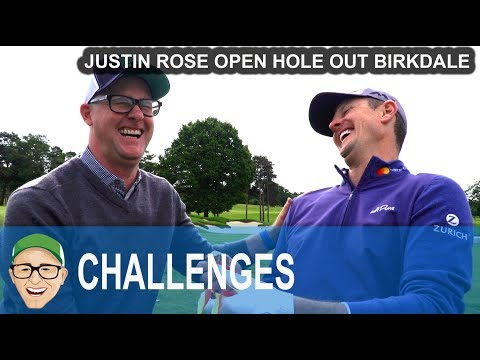 Justin Rose The Open Pitch In Birkdale