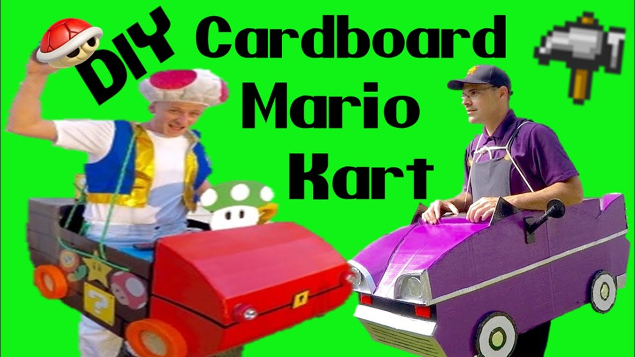 & How to build a Cardboard Race Car--Mario Kart 101 - YouTube