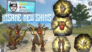 BUYING + SHOWING the TREANT + BANANA MOTORBIKE! Rules Of Survival NEW Update Skins!