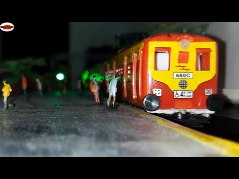 MUMBAI LOCAL TOY TRAIN MISS THE STATION | MODEL TRAIN | MINIATURE WORLD| TRAIN SET
