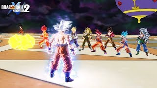 Mastered UI Goku vs All Goku's Transformations - DragonBall Xenoverse 2