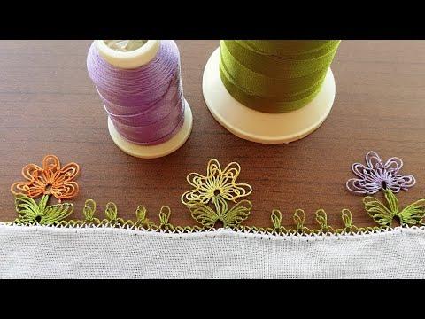 Kolay ve gösterişli çiçekli igne oyası modeli (Easy and flashy needlework) 簡単で派手なフラワーイグネレースモデル
