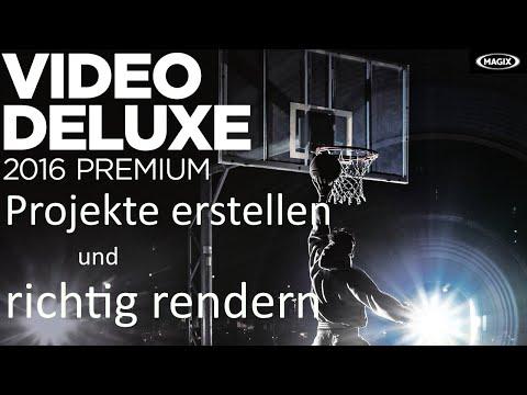 Magix Video deluxe 2016 | Projekte erstellen und rendern!
