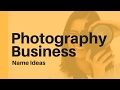43+ Photography Business Name Ideas to Help You Start Your Photography Business
