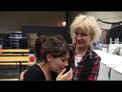 Anna Lisa fick träffa sin stora Idol Johan.