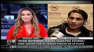 vuclip ENTREVISTADORA COQUETEA A PAOLO GUERRERO EN FOX SPORTS ARGENTINA