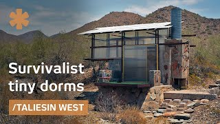 Survivalist tiny dorms at Frank Lloyd Wright's Taliesin architecture school thumbnail