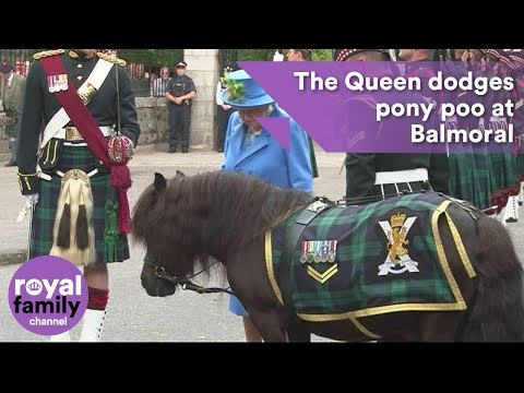 Queen dodges pony poo at Balmoral