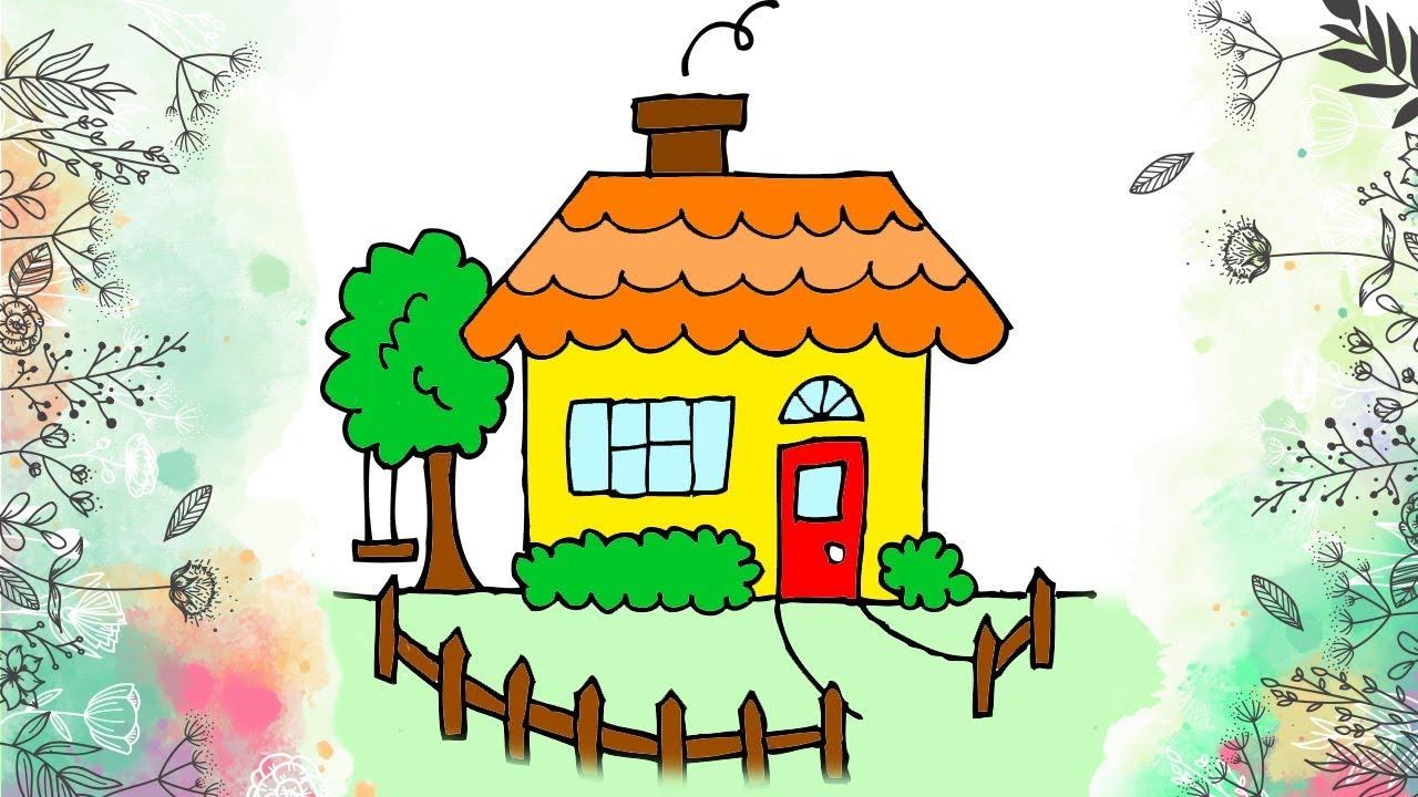 Elma Ağacı Ve Ev çizme Ve Boyama çocuklar Için Boyama Kitabı Youtube