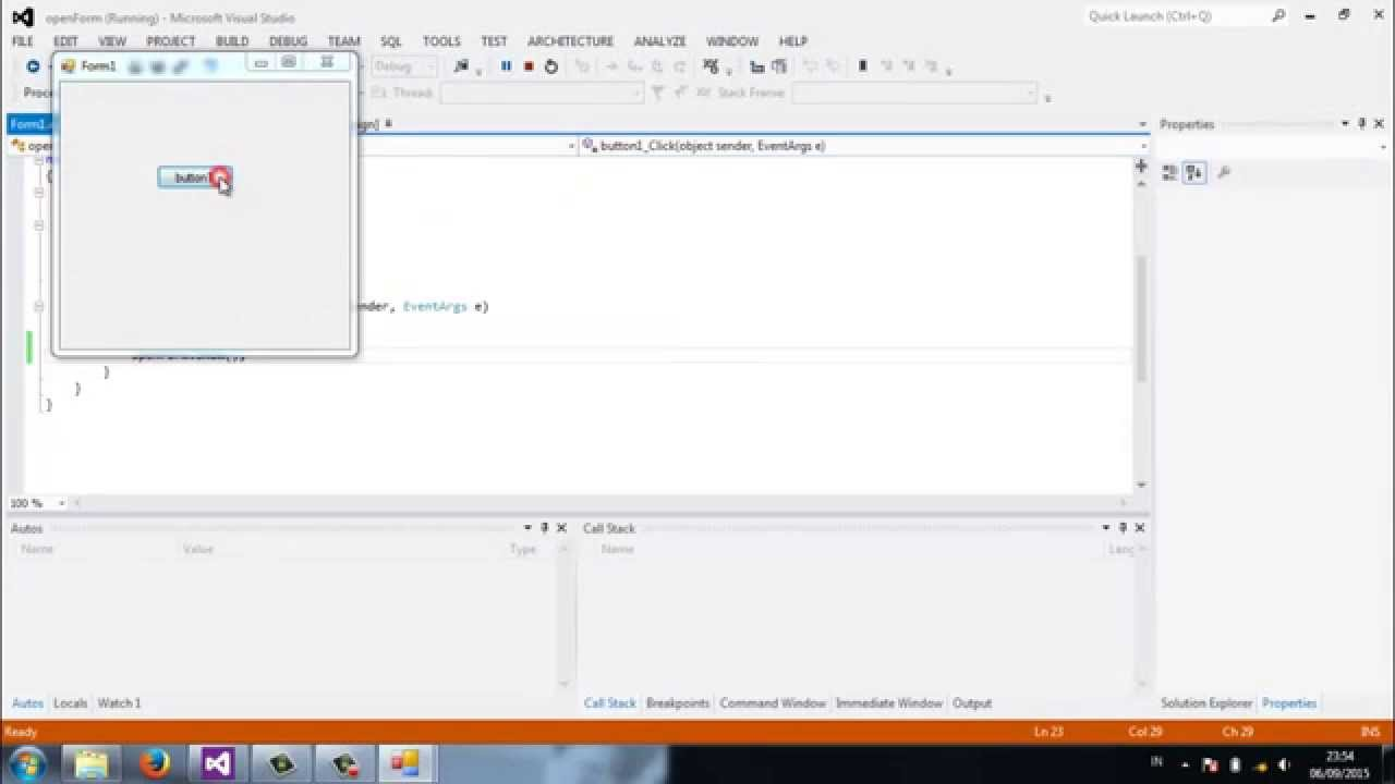 Open New Form with a Button, Close Existing Windows Form C# ...