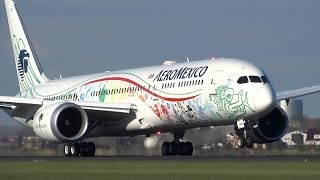 Beautiful Landings At Schiphol Airport A380, B777, A330, B747