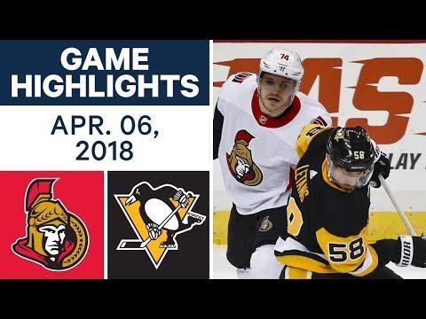 NHL Game Highlights | Senators vs. Penguins - Apr. 06, 2018