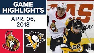 NHL Game Highlights   Senators vs. Penguins - Apr. 06, 2018