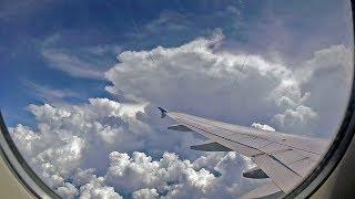 Towering Cumulus + Cumulonimbus Everywhere! United A320 Approach and Landing at Houston (KIAH)
