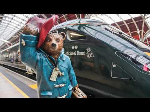 Naming of Intercity Express Train Paddington Bear and Michael Bond