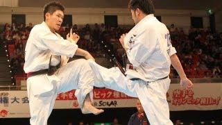 【新極真会】第28回全日本ウエイト制大会   重  量級準決勝 島本雄二vs...