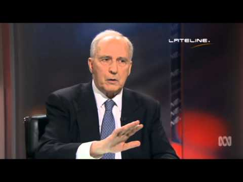 Lateline 12/11/14 - Paul Keating on China Development Bank, and Australia Security.
