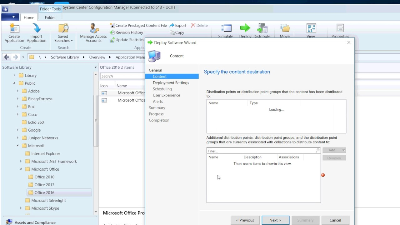 install office 2016 sccm