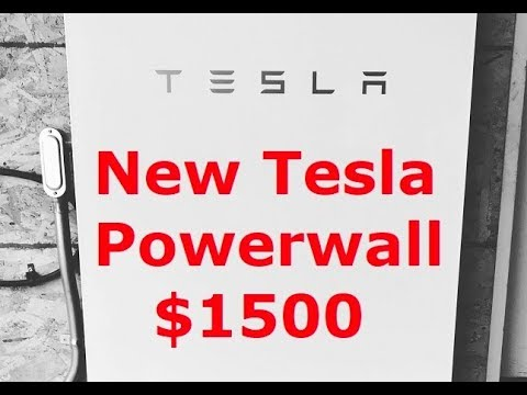 New Tesla Powerwall For $1500