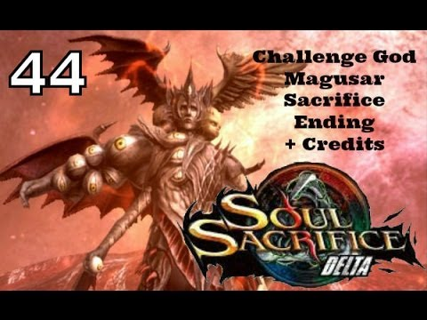 Soul Sacrifice DELTA PS VITA - 1080P Let's Play Walkthrough 44 - God Magusar Sacrifice Ending