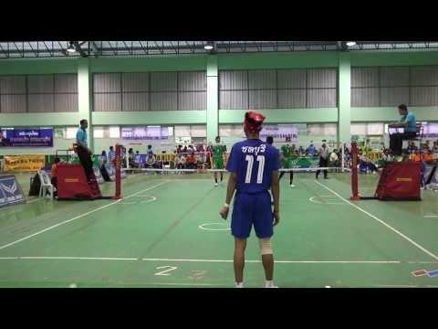 ตะกร้อชายคู่ 18 ปี โรงเรียนกีฬาจังหวัดชลบุรี กีฬาโรงเรียนกีฬาแห่งประเทศไทย ครั้งที่ 16