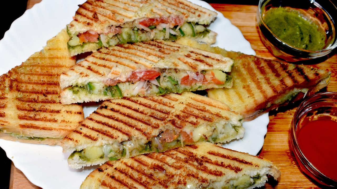 Vegetable Sandwich Grilled Vegetable Cheese Sandwich Kids Lunch Box Idea Youtube