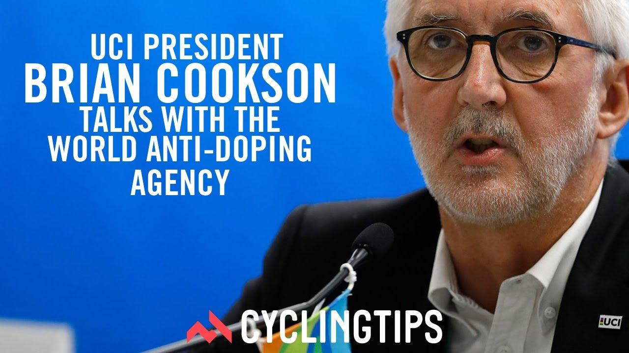 UCI President Brian Cookson talks with WADA (World Anti ...