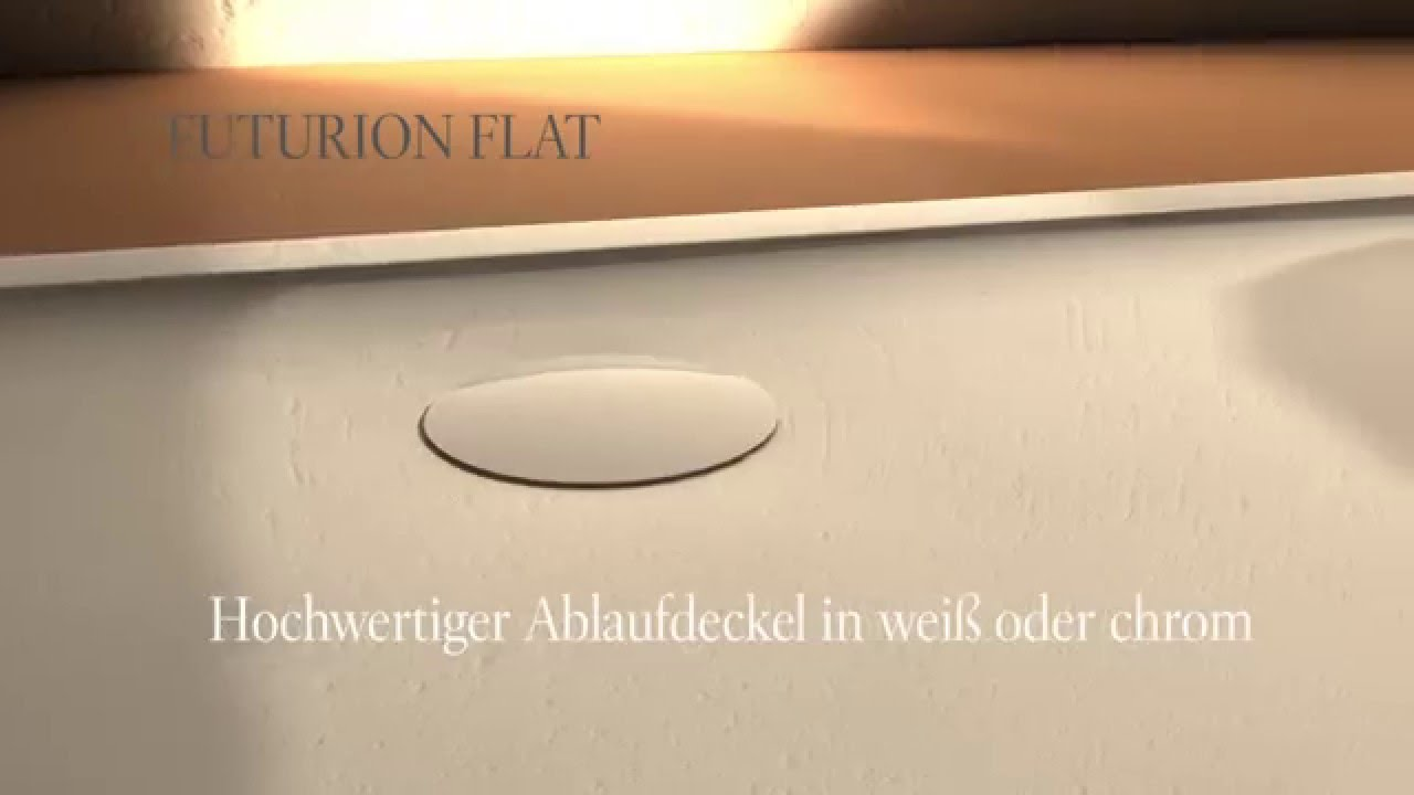 die futurion flat duschwanne von villeroy boch youtube. Black Bedroom Furniture Sets. Home Design Ideas