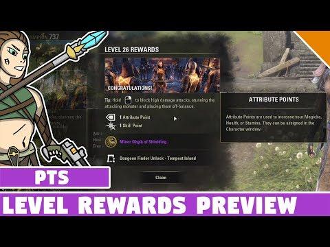 Level Up Reward System ESO PTS Update 17 (Dragon Bones) & Skill Advisor (Test Server)
