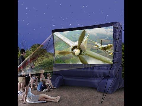 Utah Projectors - Deluxe Outdoor Inflatable Movie Screen Setup