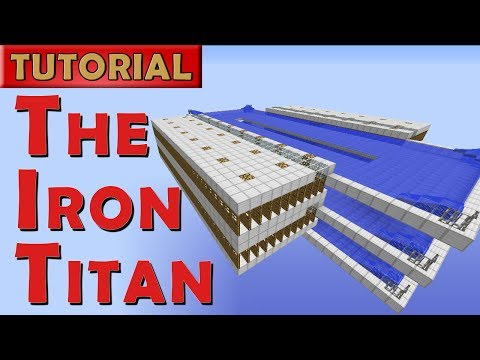 The Iron Titan - Minecraft Iron Golem Farm - 2600 Iron/hr (W