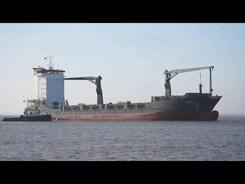 BERTA - General cargo vessel arriving at the port of felixstowe 4/12/17