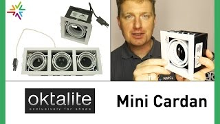 Deckeneinbauspot GU5.3 Oktalite Mini Cardan [watt24-Video Nr. 118]