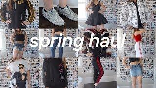 Spring Try On Haul + What I Got For My 16th Birthday! Brandy Melville LF, Frame, Golden Goose, + Mor