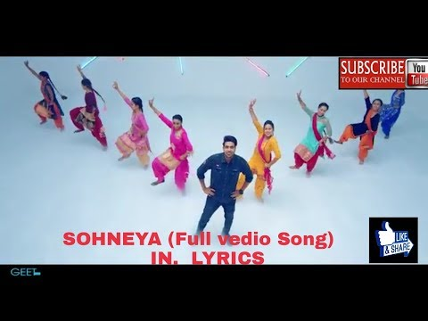 Sohneya(full Song Lyrics) GURI FEAT. Sukhe. (parmish Verma) Latest Song 2017