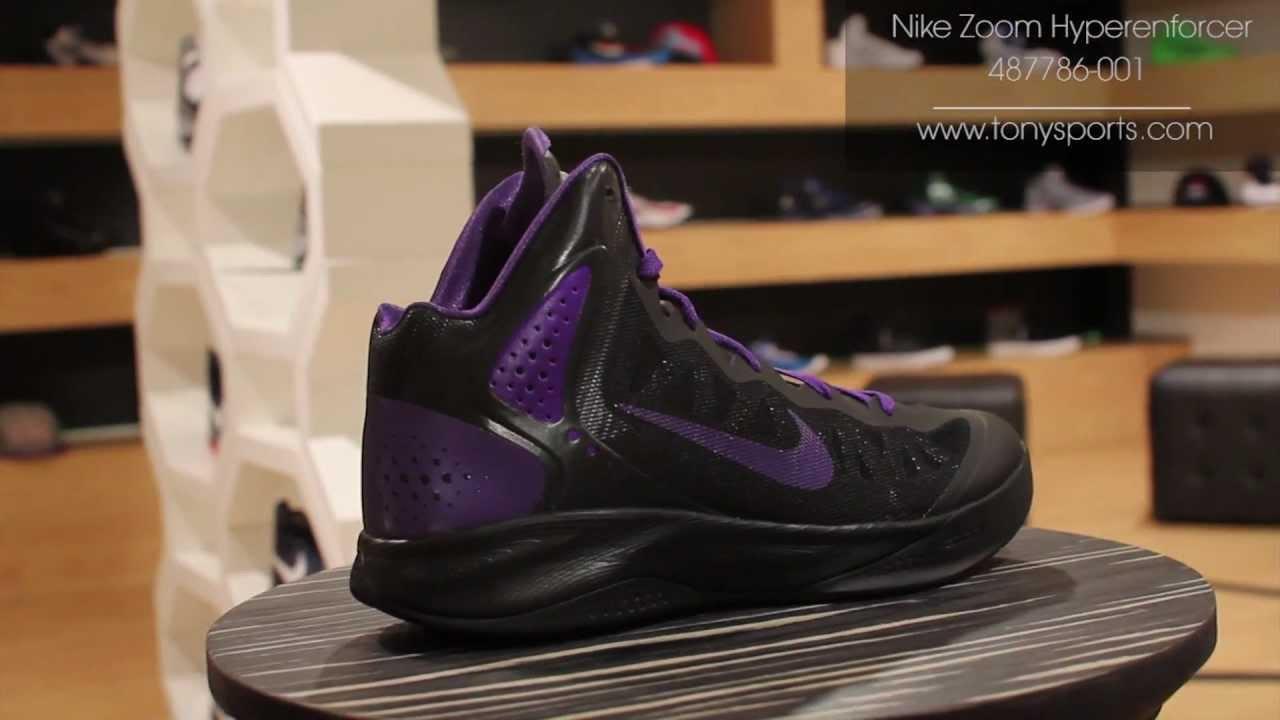 dae5ad2227b46 Nike Zoom Hyperenforcer - Black Club Purple - 487786-001 www.tonysports.com