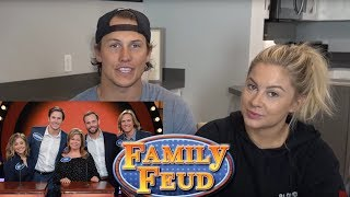 OUR EPISODE OF FAMILY FEUD! REACTION | Shawn Johnson