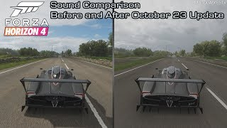 Forza Horizon 4 - Pagani Zonda R Sound Comparison - Before and After October 23 Update