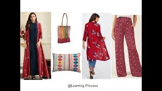 10 Ways to Reuse or Recycle old Anarkali Suits | Learning Process
