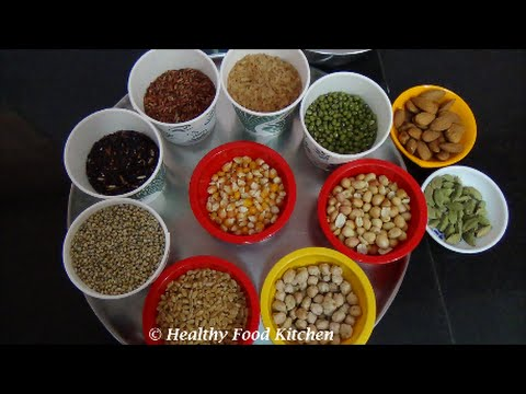 How to prepare Sathu Maavu Recipe-Healthy Malt Mix By Healthy Food Kitchen