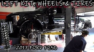 """Lifting the Ford F250! Fabtech Dirt Logic 4.0 Coilover Conversion + New wheels 37"""" Tires"""