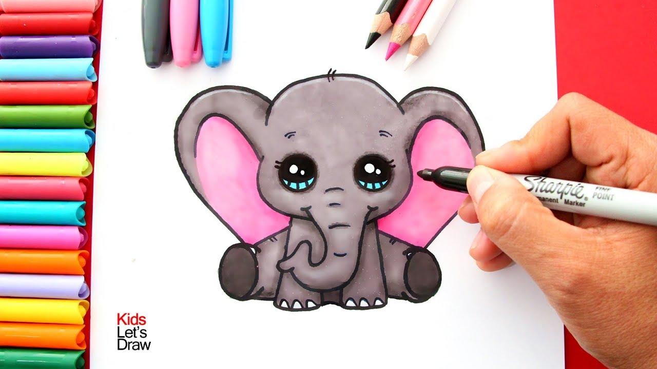 Aprende a dibujar un elefante kawaii beb dumbo how to - Fotos de elefantes bebes ...