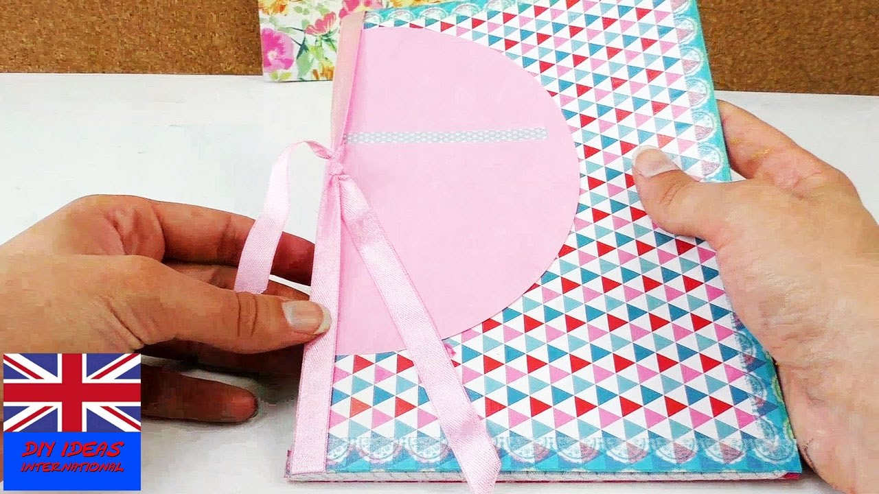How To Make A Removable Book Cover : Notebook cover school tutorial how to make your