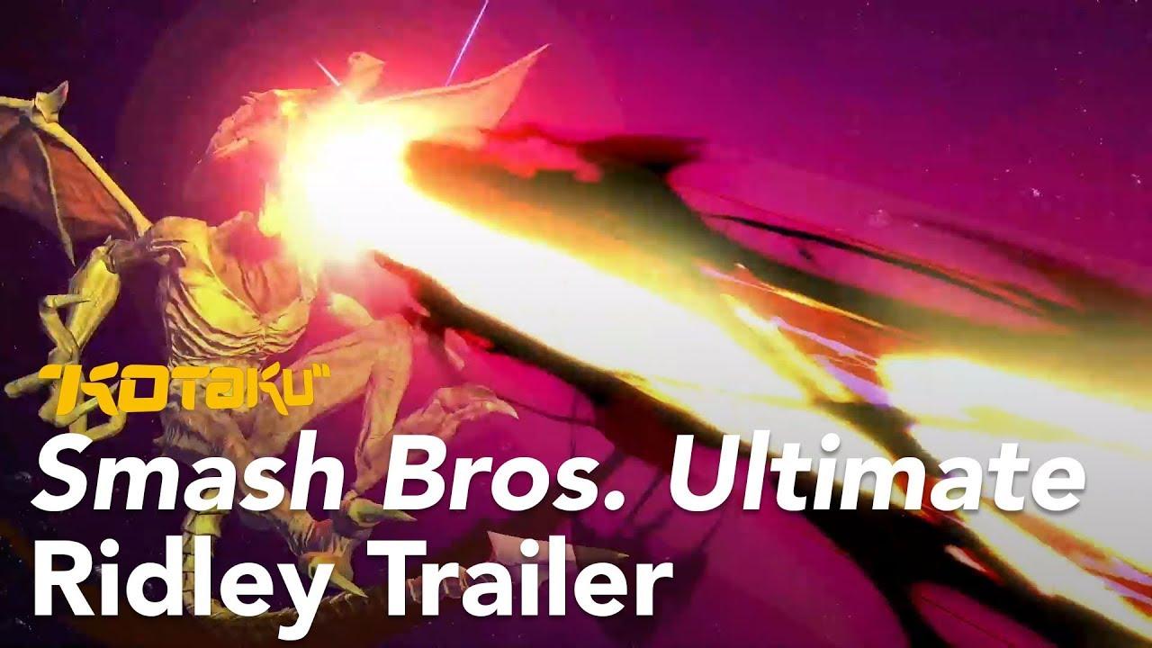 Smash Bros. Ultimate Ridley Trailer, E3 2018