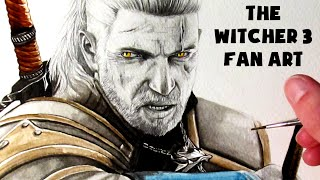 the witcher 3 painting fan art time lapse