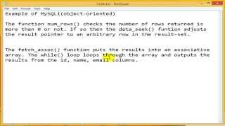 PHP Tutorial - select data from MySQL using MySQLi (PHP For Beginners)