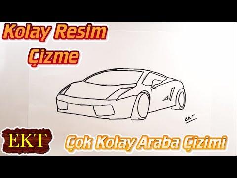 Cok Kolay Lamborghini Araba Cizimi Youtube