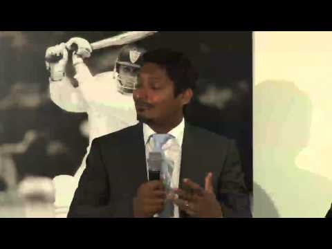 Kumar Sangakkara at the LBW Trust Annual Dinner 2013, Pt 2/2